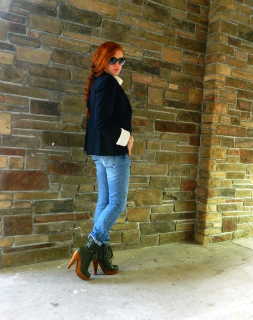 Wore Out, Outfit Post, Jeffrey Campbell Boot Camp Boot, Jeffrey Campbell Boots, How to wear boyfriend jeans, layering clothes in winter, how to layer clothes without looking bulky,