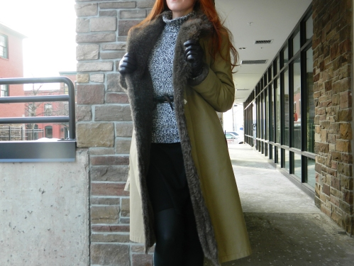 Wore Out, Vermont Fashion, Winter in Vermont,  London Fog Fuax Fur Lined Trench,  Winter Jackets, Goodwill, Great Finds at Goodwill, ELLE Ankle Boots