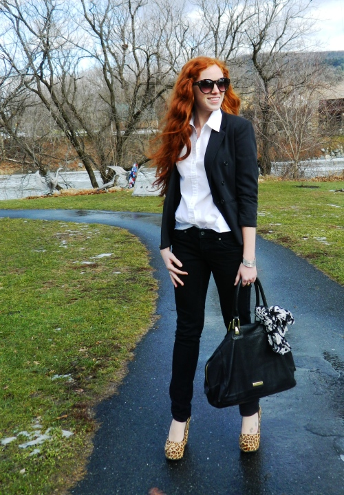Wore Out, Vermont Fashion,, Vermont Fashion Bloggers,  Leopard Print  ALDO  Wedges, Steve Madden Bag, Black and White Outfit, Leopard Print Accessories, Simple Outfits