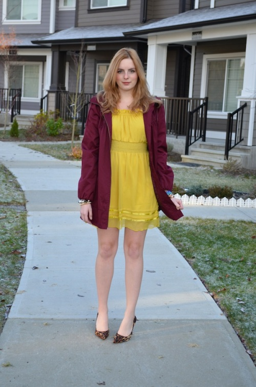 wore out, the urban umbrella, style inspirations, how to style a yellow dress,