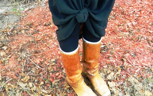 Wore Out, Vermont Fashion, Vermont Fashion Blogger, Casual Winter Outfits, Vintage Boots, Old Gold Vermont, Ann Taylor Military Jacket,  Steve Madden Bag, How to Layer Without Looking Bulky, American Apparel Sheer Skirt