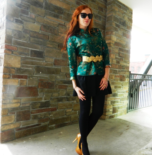 Wore Out, Vermont Fashion, Vermont Fashion Blogger, Simple Winter Outfits, Michael Antonio Heels, TJ Maxx Accessories, Pac Sun Dress, Dresses with Pockets, Chinese New Year, Chinese Silk Women's Jacket,